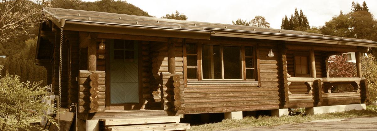 小川村にあるログハウスの美容室classichairdesign